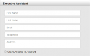 Executive Assistant Form